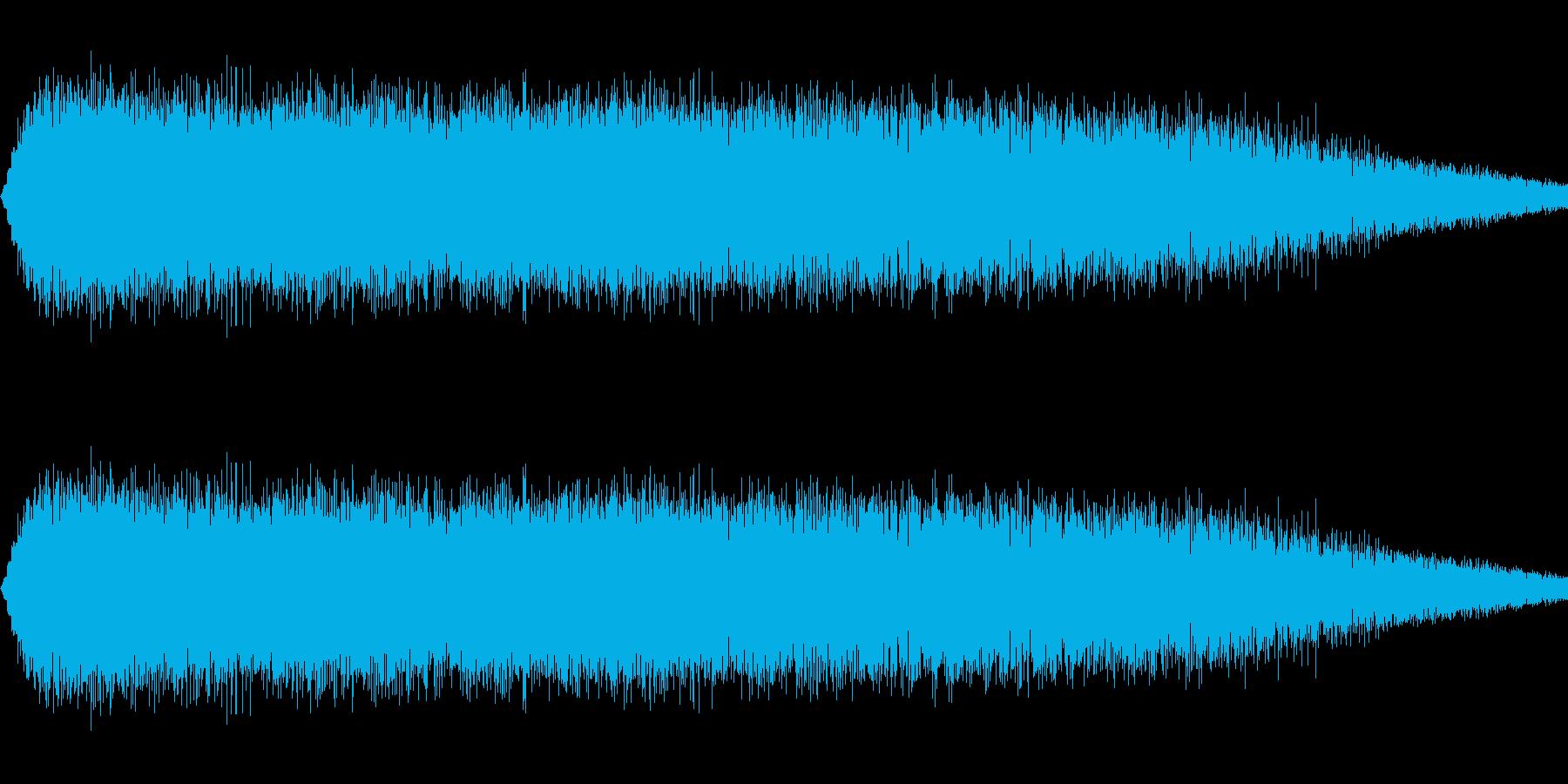 ショット・ビーム発射音#4の再生済みの波形