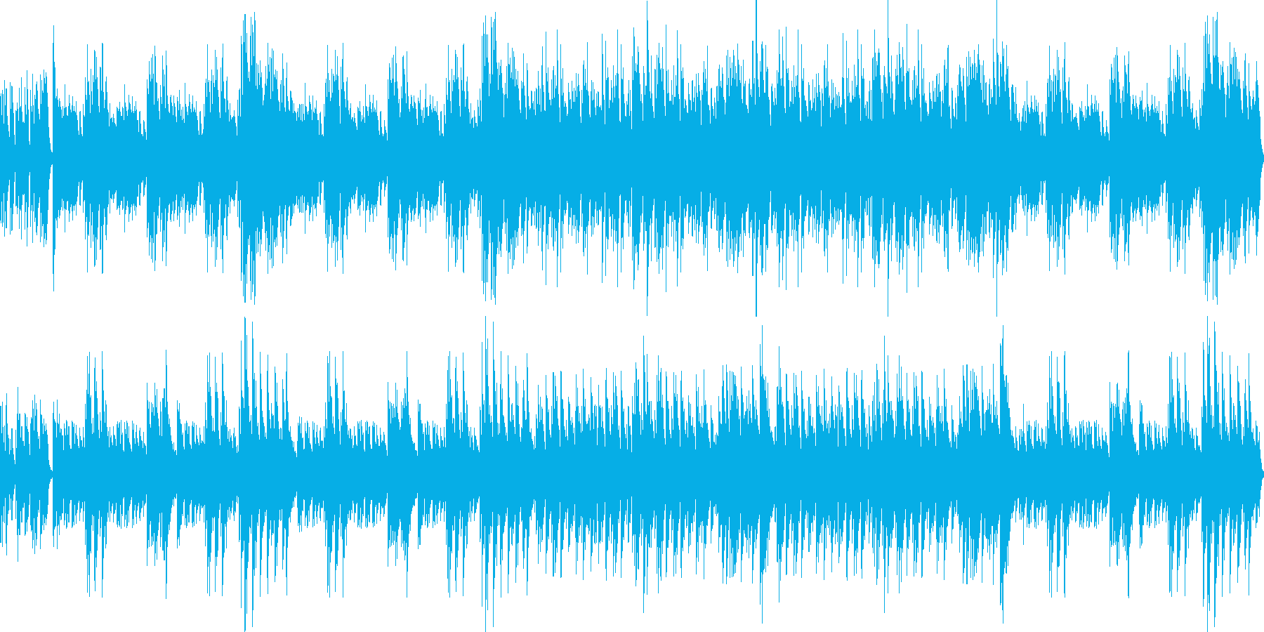 The Entertainerカバーの再生済みの波形