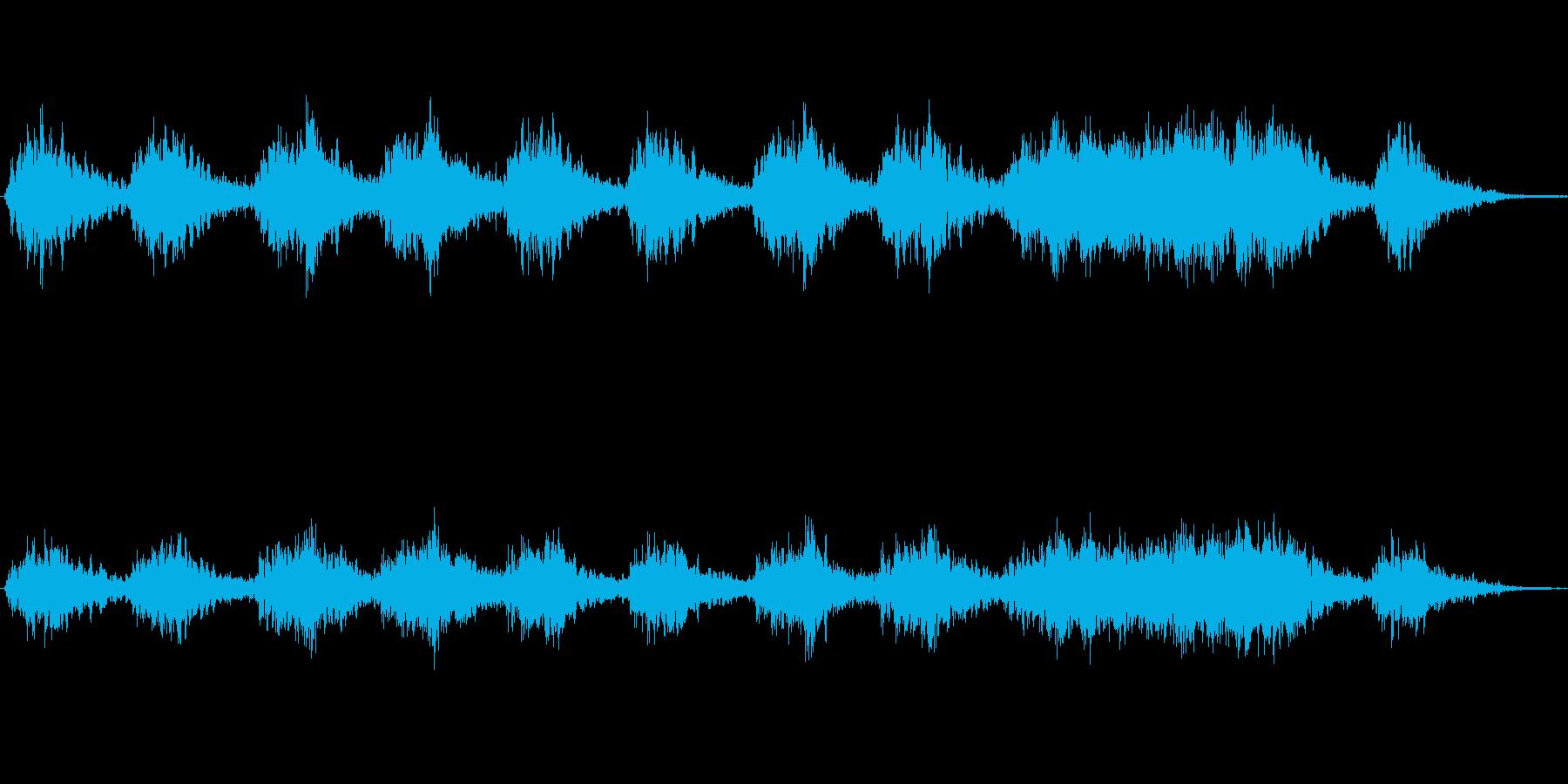 エコーが心地よい不思議なジングルの再生済みの波形