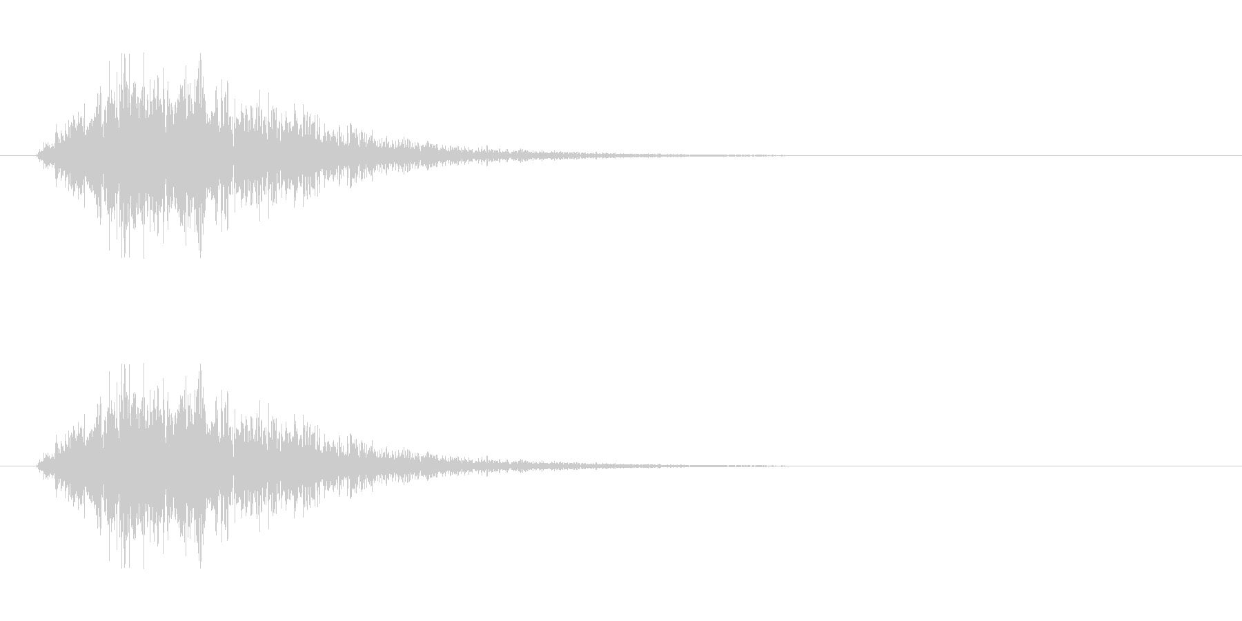 SF 移動音 5の未再生の波形