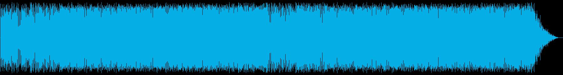 明るいテンポのいいボサノバジャズの曲の再生済みの波形