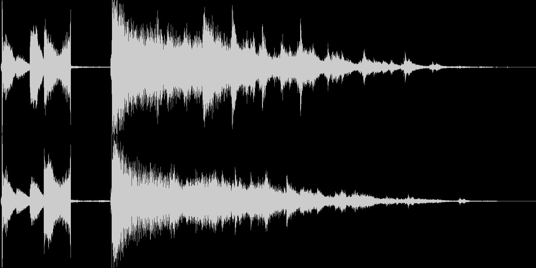 ビリヤードをイメージしたサウンドロゴの未再生の波形