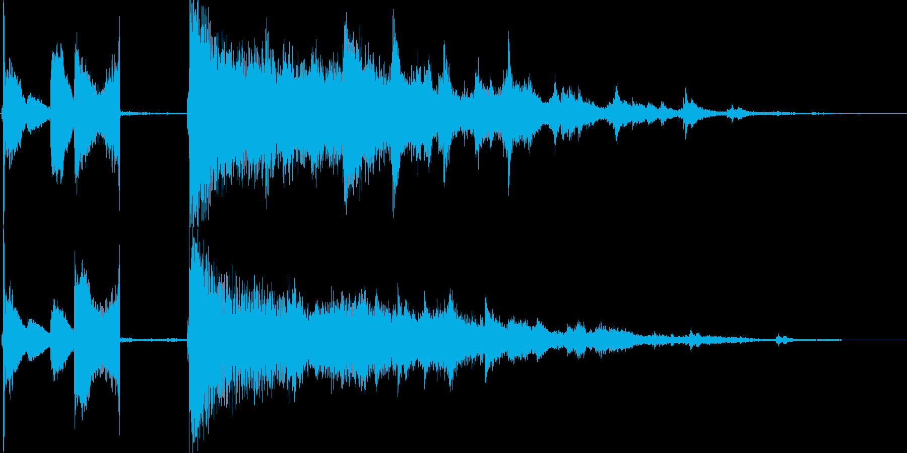 ビリヤードをイメージしたサウンドロゴの再生済みの波形