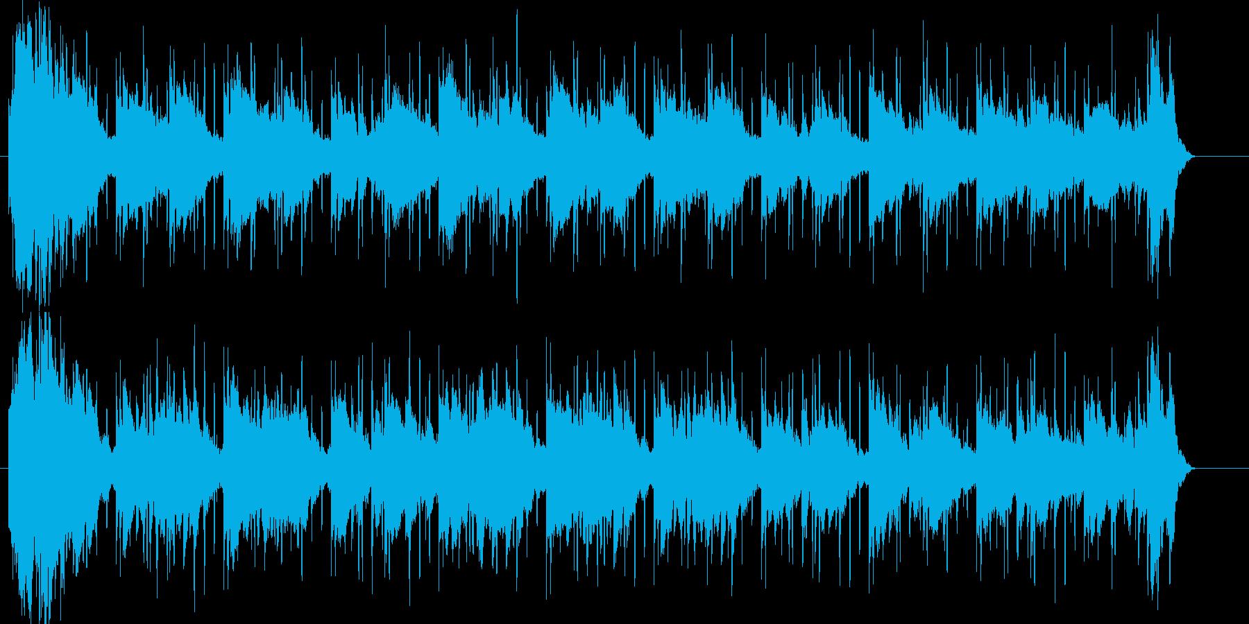 幻想的で綺麗な雰囲気のBGMの再生済みの波形