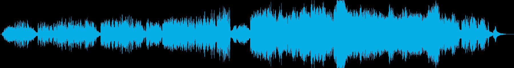 星をイメージしたピアノとストリングスの曲の再生済みの波形