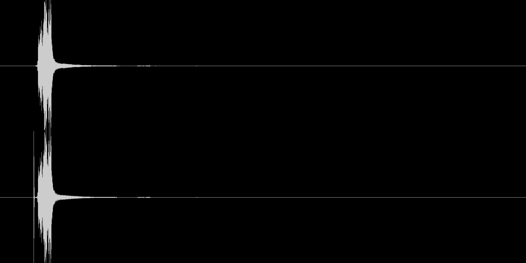 シャキーン(斬撃)の未再生の波形