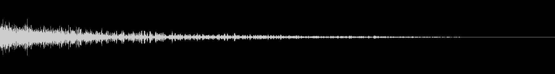 エネルギー銃を発射する音(ピョーン)の未再生の波形