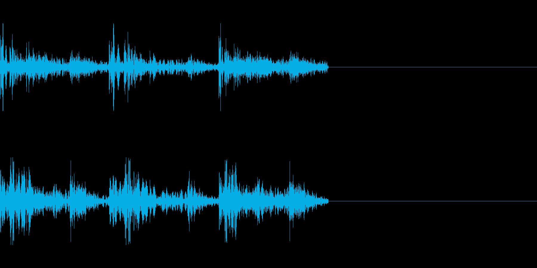 連続打撃音の再生済みの波形