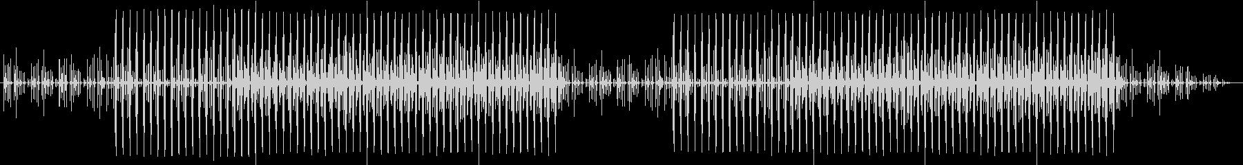軽快なリズムの楽曲の未再生の波形