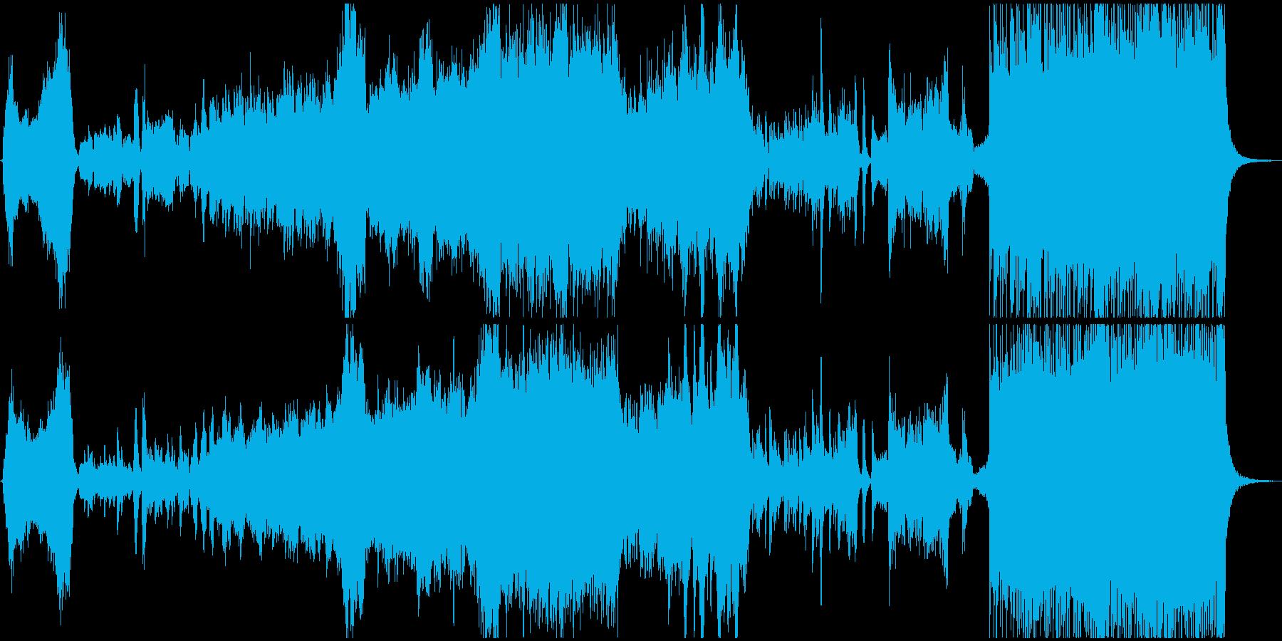ゲームオープニング風、壮大オーケストラの再生済みの波形