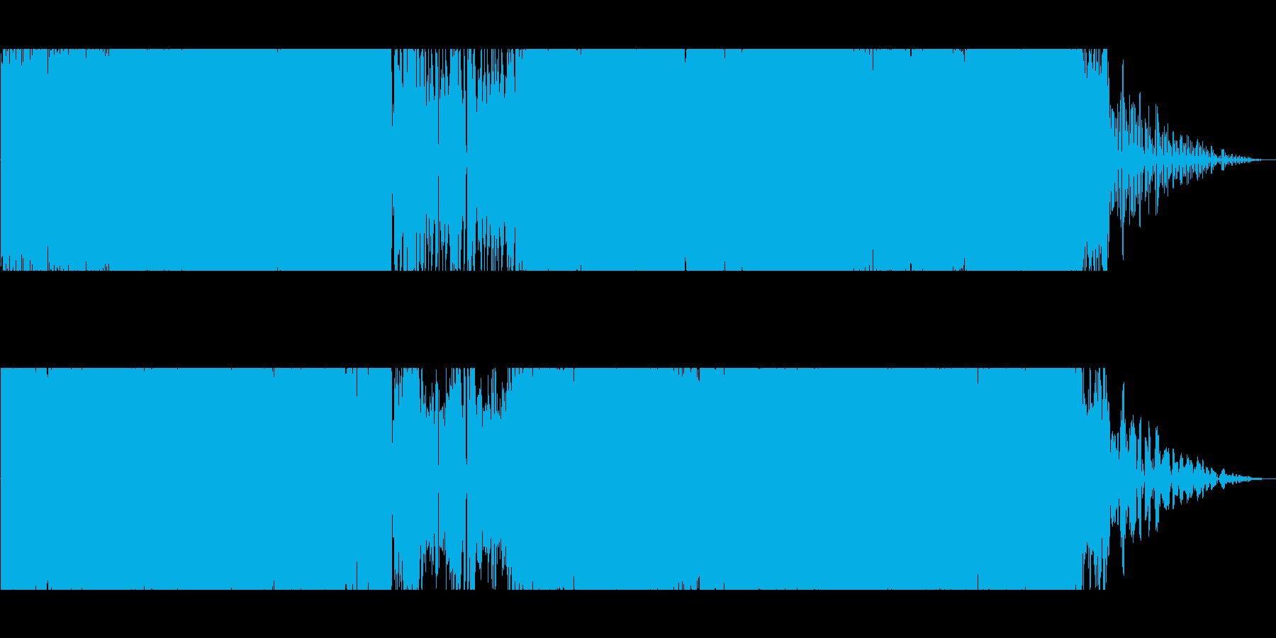 アップテンポのプログレの再生済みの波形