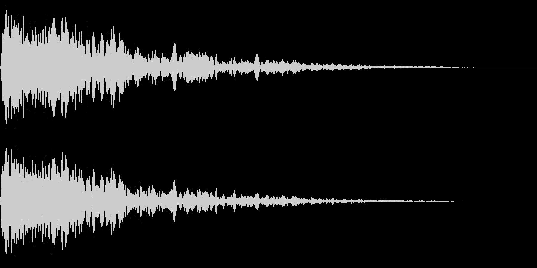ホラー系アタック音14の未再生の波形