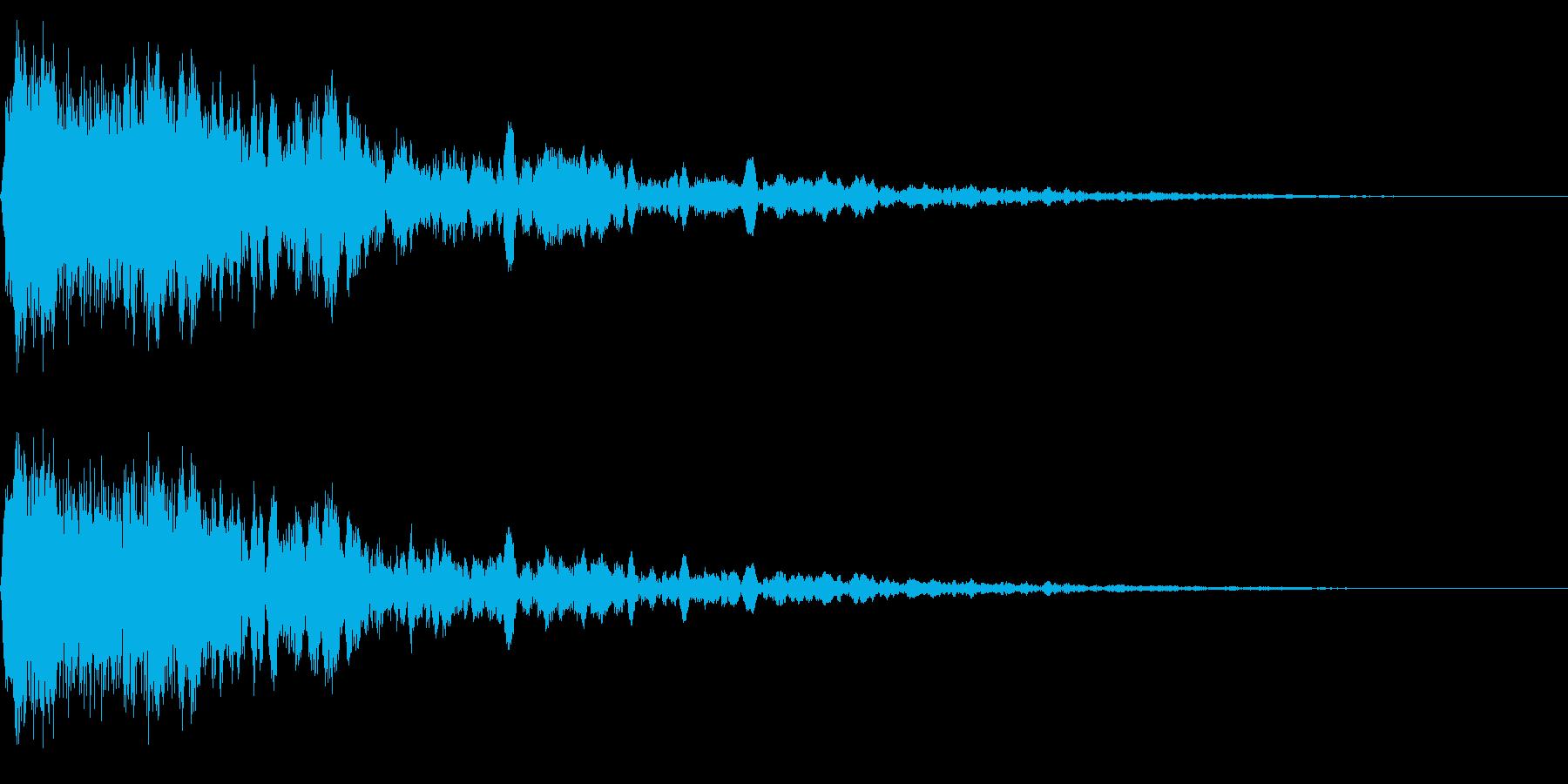 ホラー系アタック音14の再生済みの波形