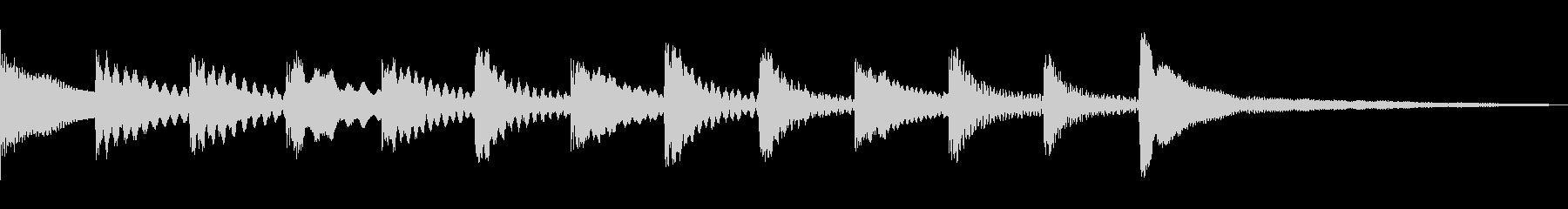 マリンバでのクリア音の未再生の波形