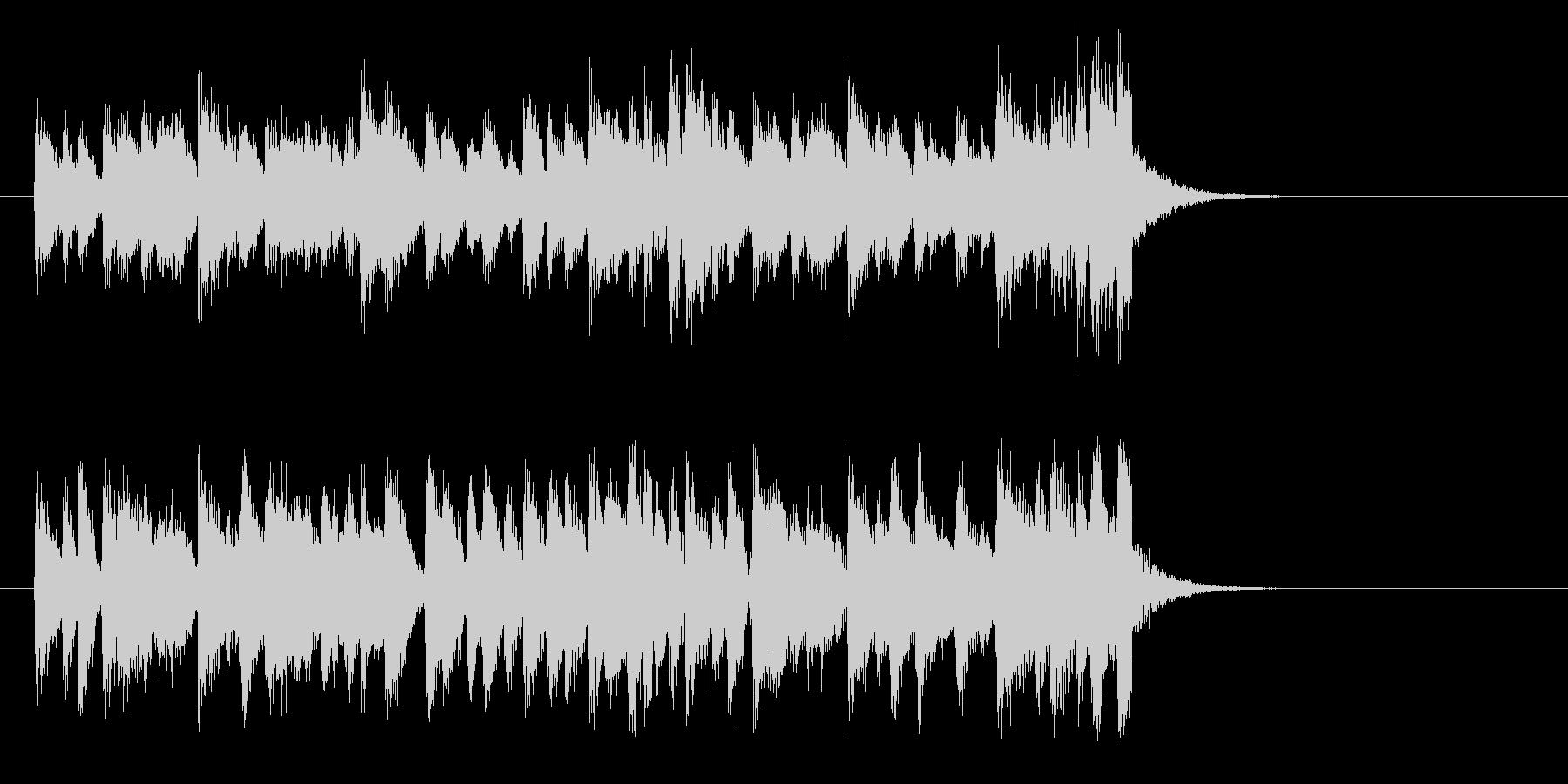 懐かしさに浸るジャズ(イントロ)の未再生の波形