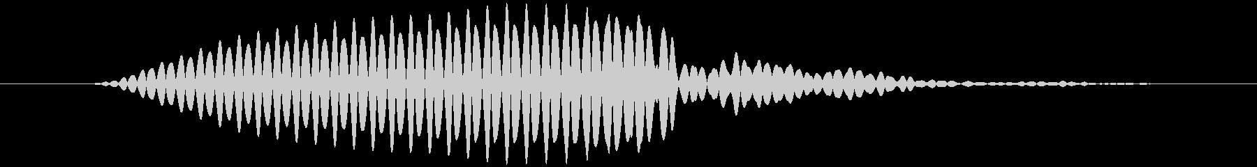 拭く、磨く キュッ (低め)の未再生の波形