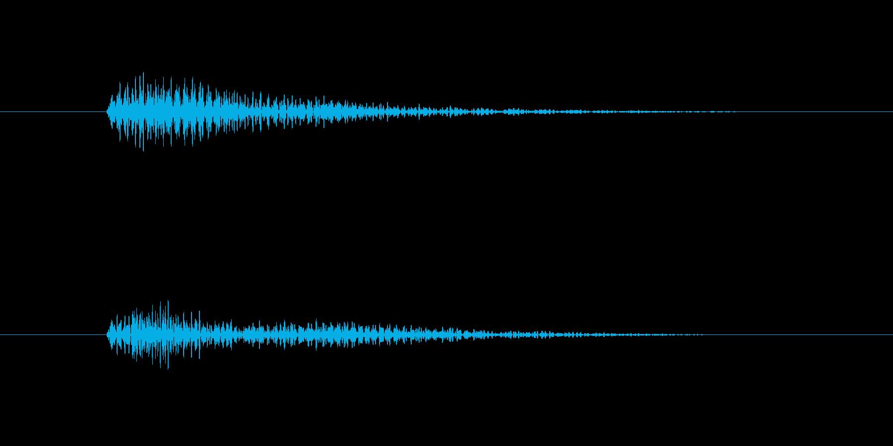 ベンッ。 デジタル効果音。の再生済みの波形