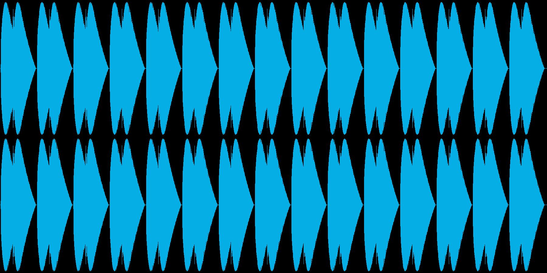 速めの心臓の鼓動の再生済みの波形