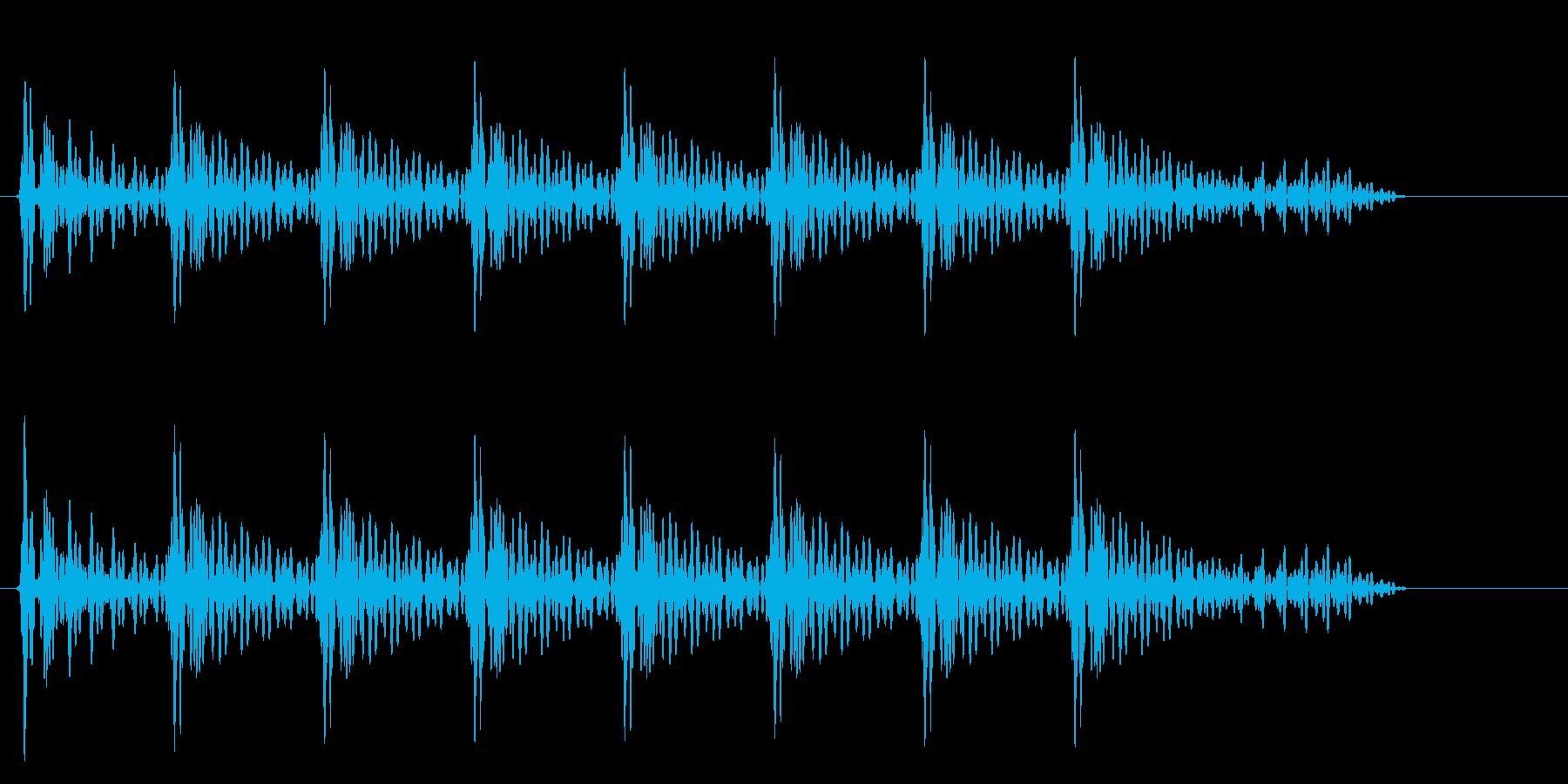 トトトン(打つ音色)の再生済みの波形