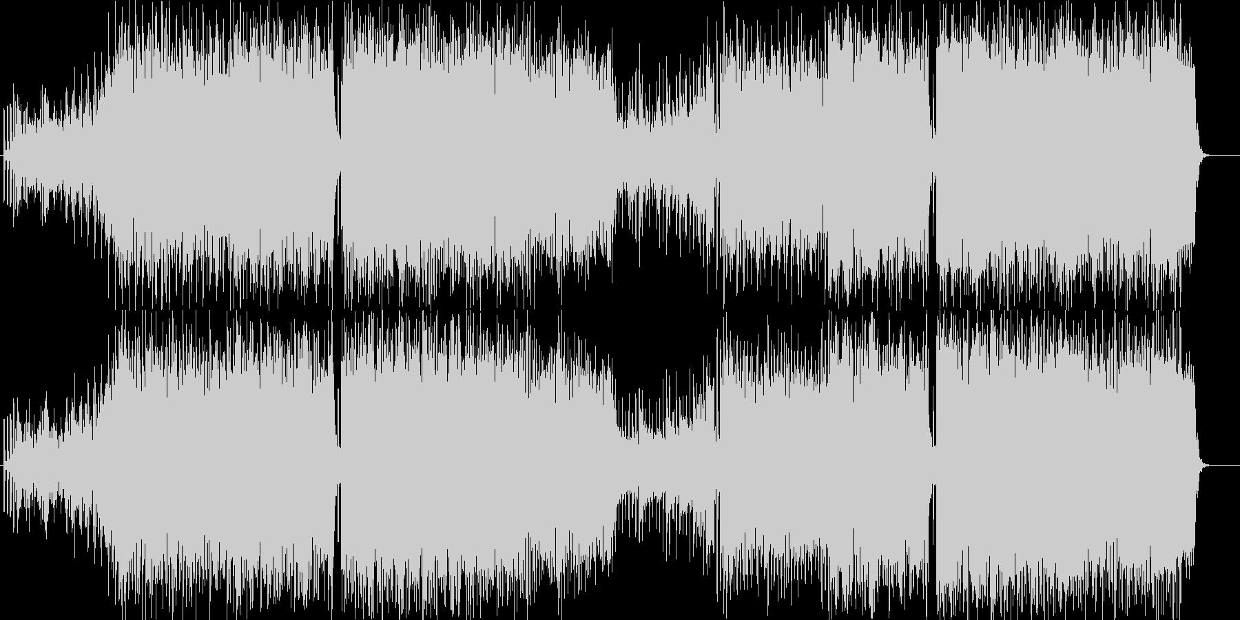 ノリノリのユーロビートのオリジナル体操曲の未再生の波形