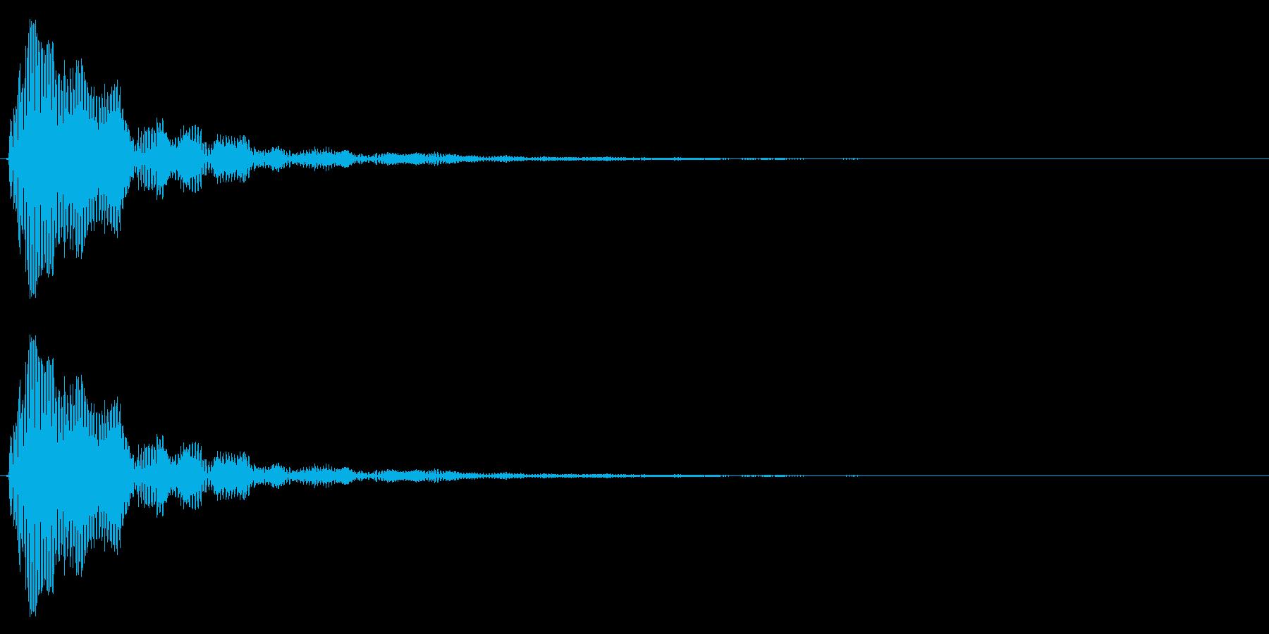 小鼓(こつづみ)の再生済みの波形