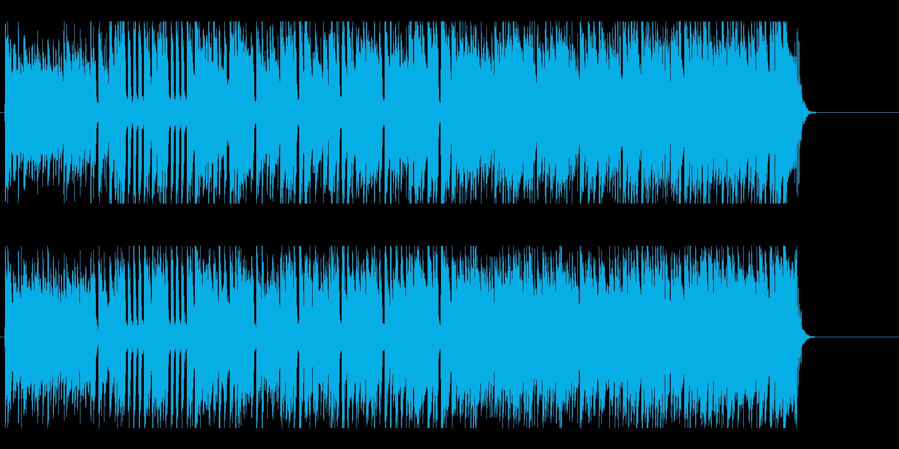 エレキギターとブラスのにぎやかなポップの再生済みの波形