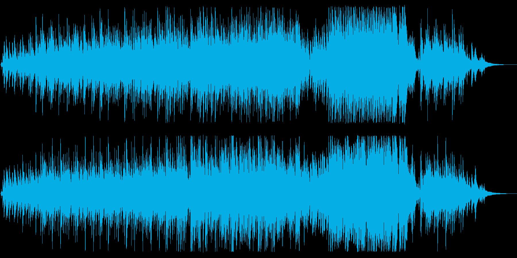 しっとり軽やか、哀愁のあるジャズ風の曲の再生済みの波形