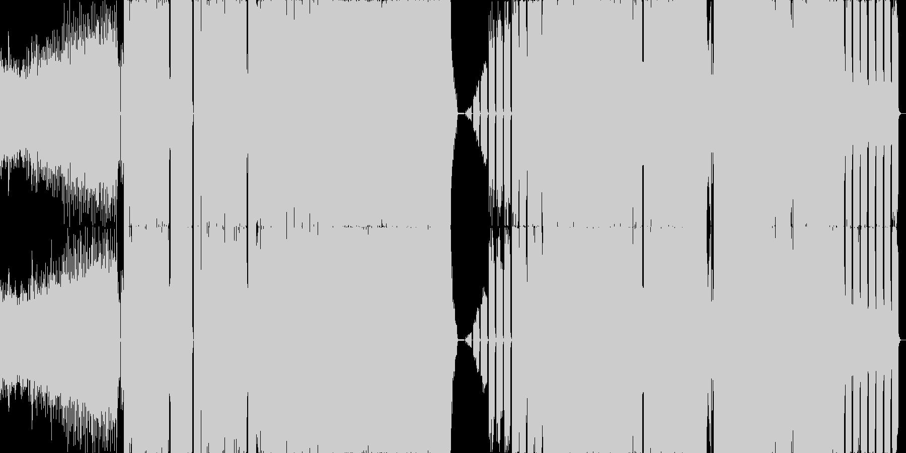 ハード系EDMの未再生の波形