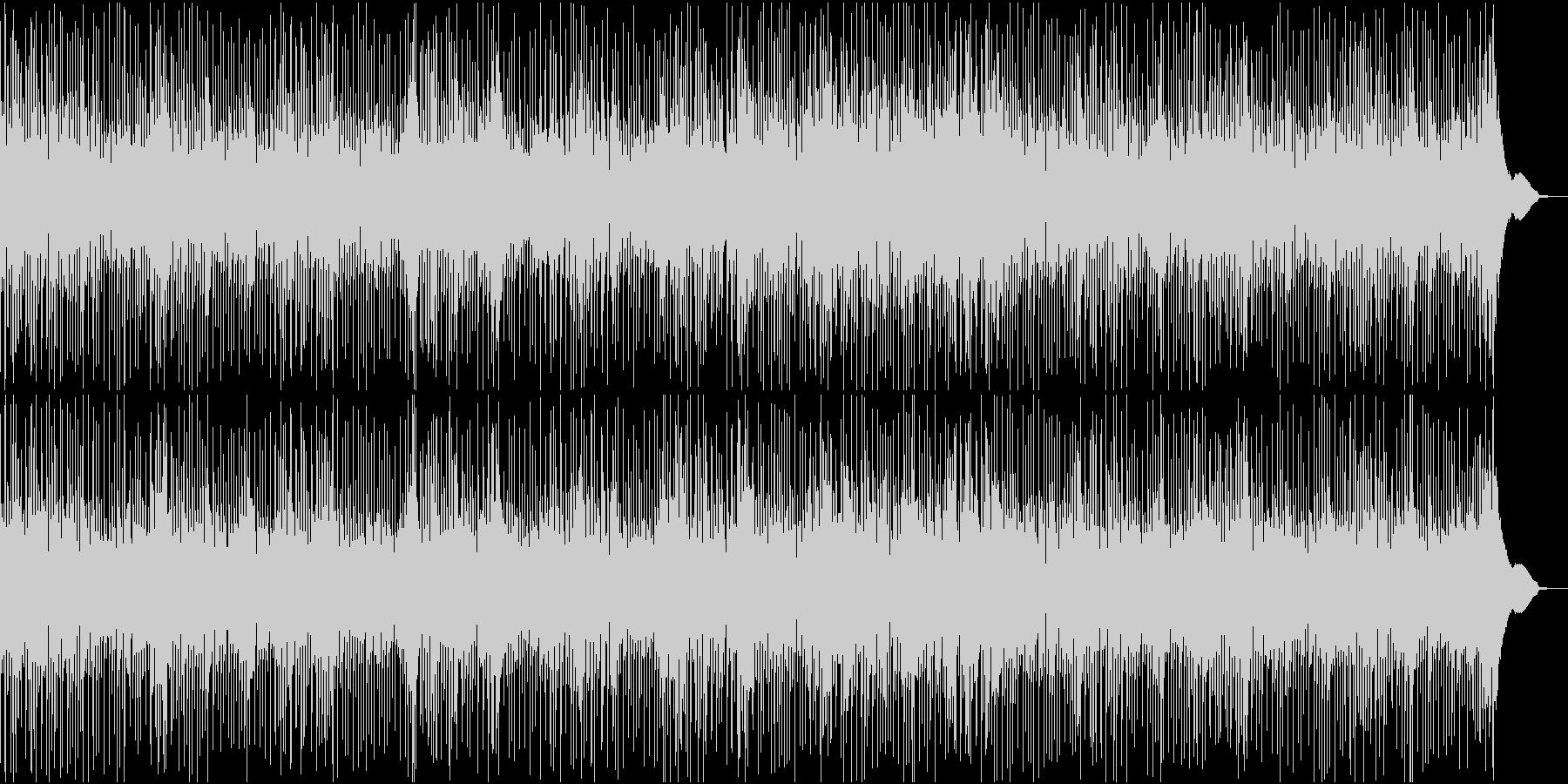 映像用、賑やかで軽快なブルースの曲の未再生の波形