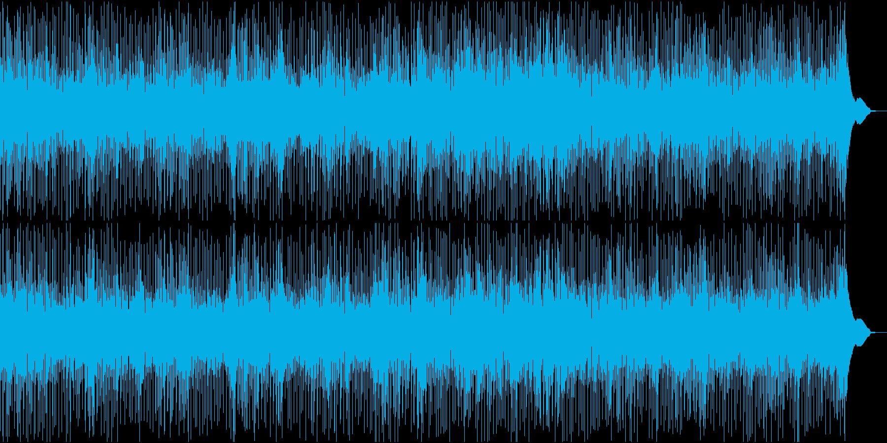 映像用、賑やかで軽快なブルースの曲の再生済みの波形