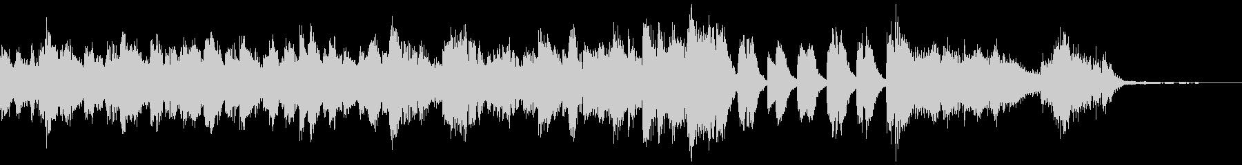 ハードでブルージーなジングル(ピアノ)の未再生の波形