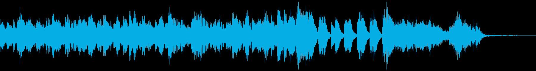 ハードでブルージーなジングル(ピアノ)の再生済みの波形
