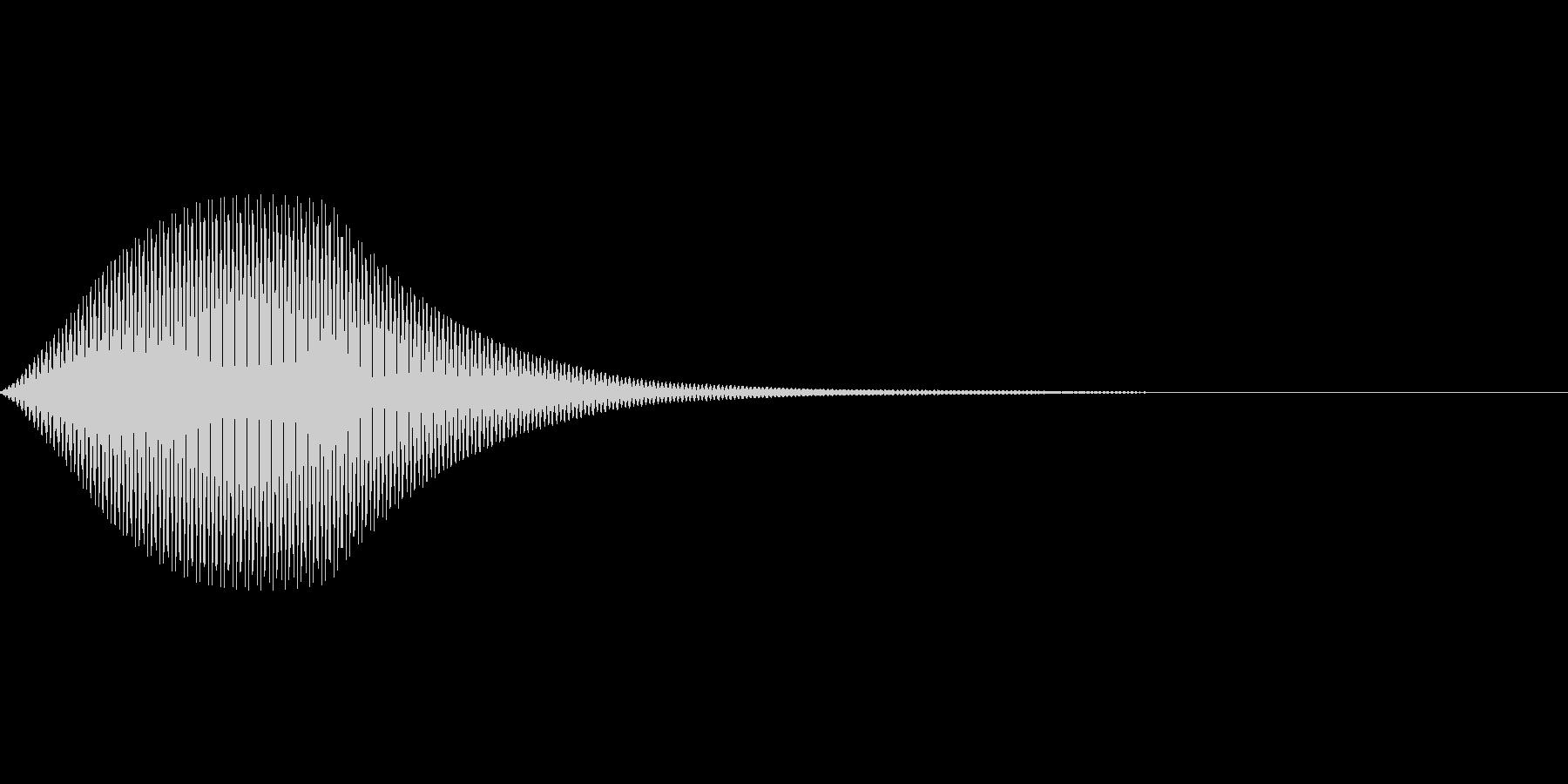 余韻のある決定音の未再生の波形
