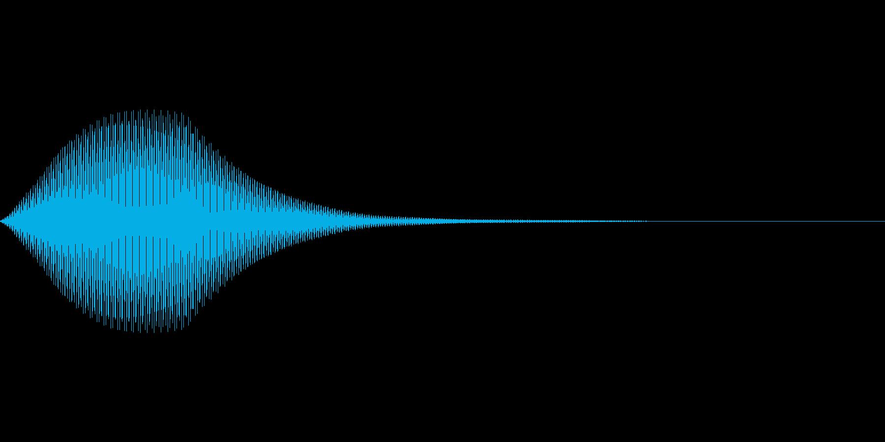 余韻のある決定音の再生済みの波形