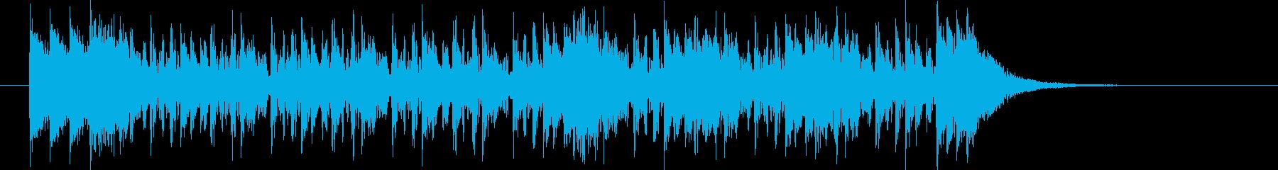 激しいテクノポップスのジングルの再生済みの波形
