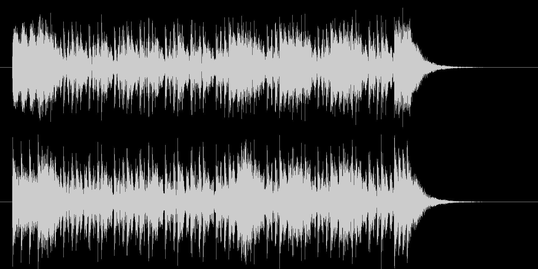 激しいテクノポップスのジングルの未再生の波形