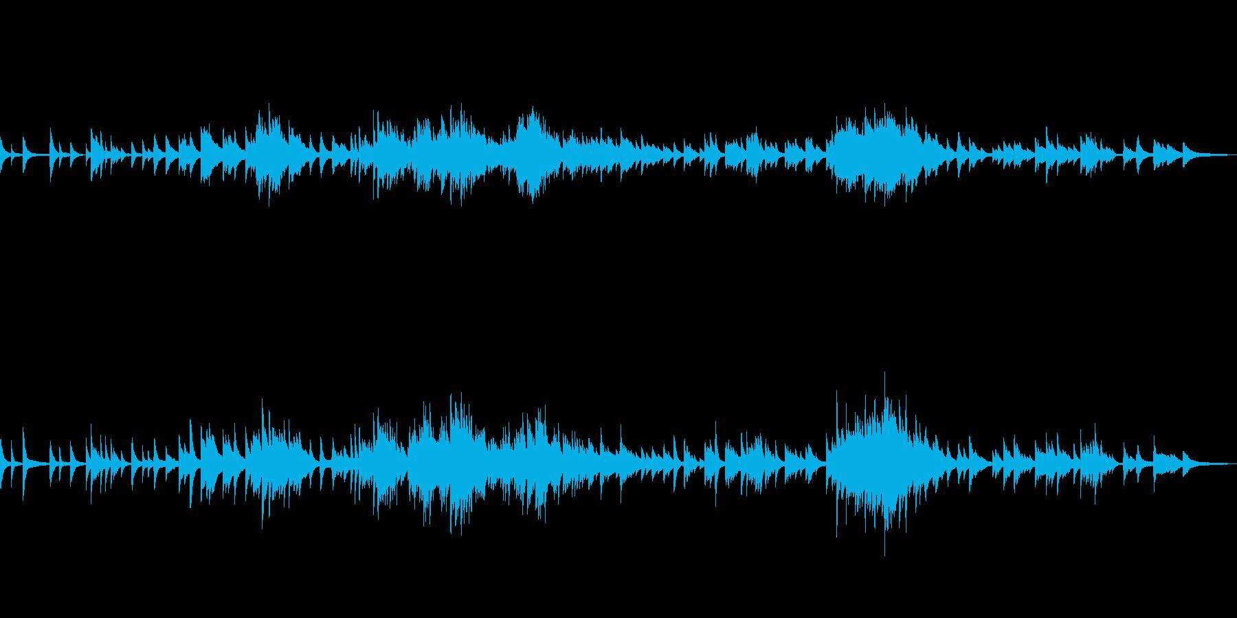 C=528Hz 癒しのピアノ ゆっくりの再生済みの波形