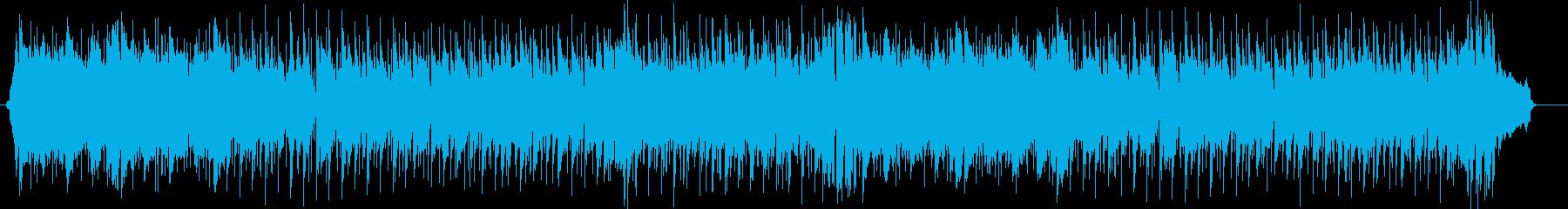 スピード感のある暗めのミュージックの再生済みの波形