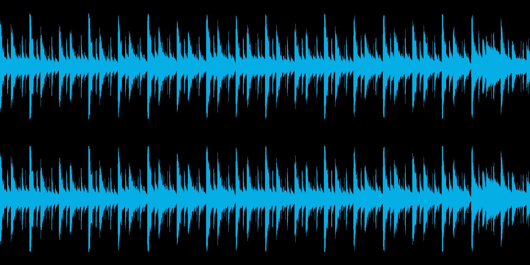 ヒップホップ系のイントロっぽいのループの再生済みの波形