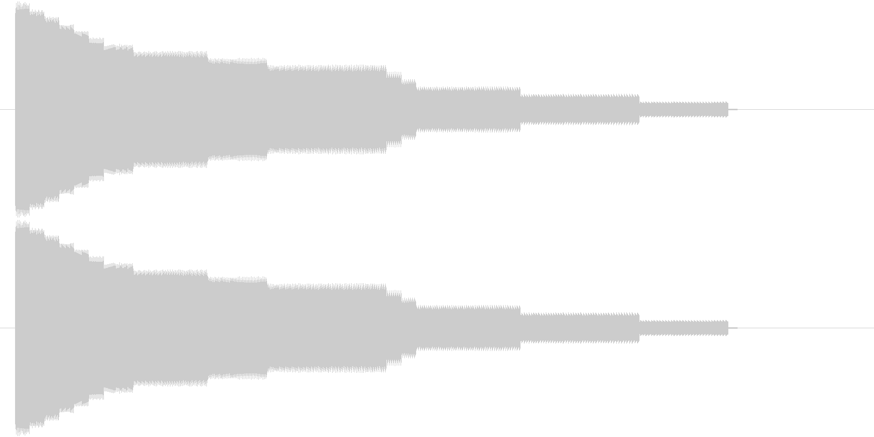 8bit落下音の未再生の波形