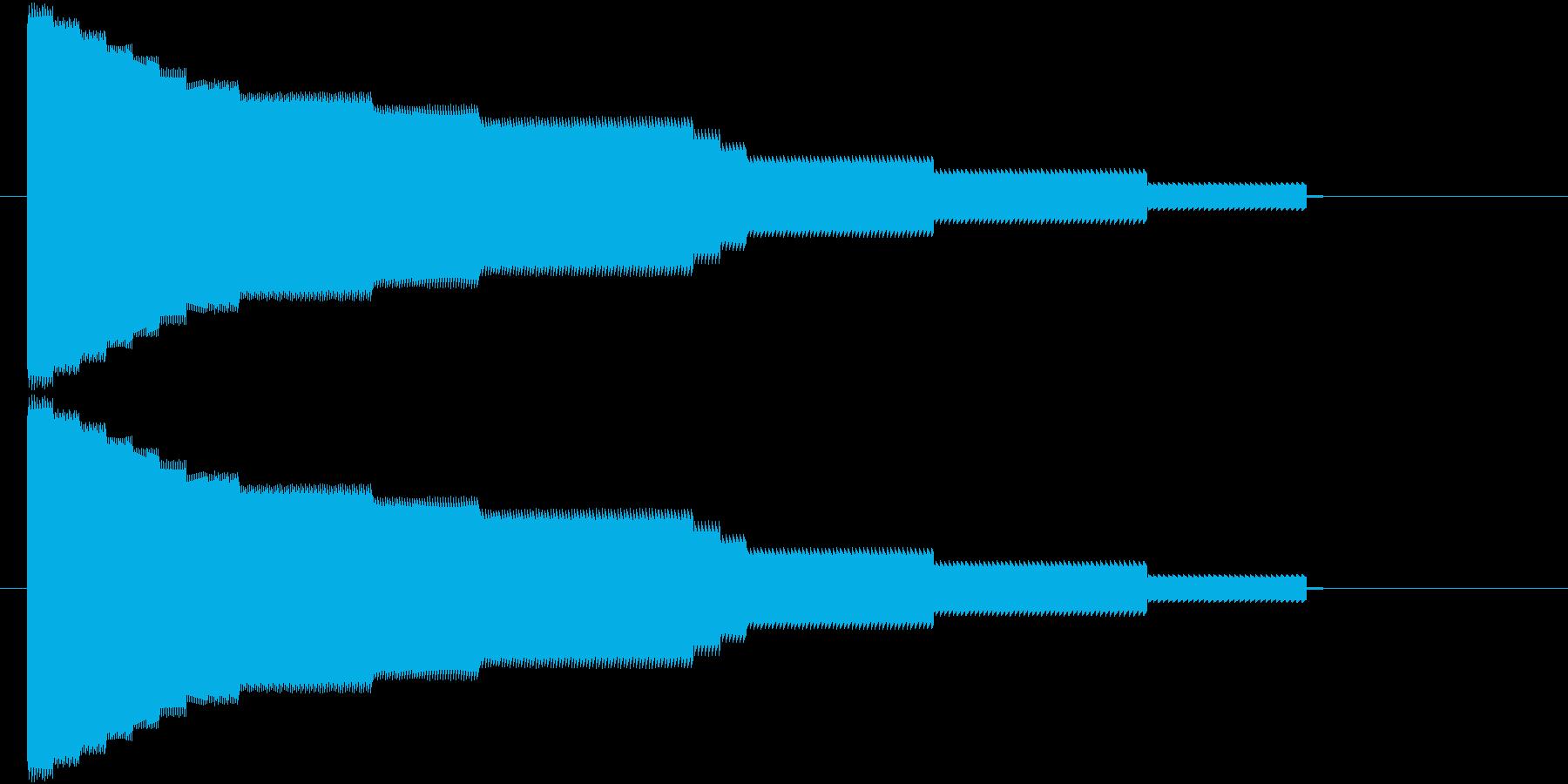 8bit落下音の再生済みの波形