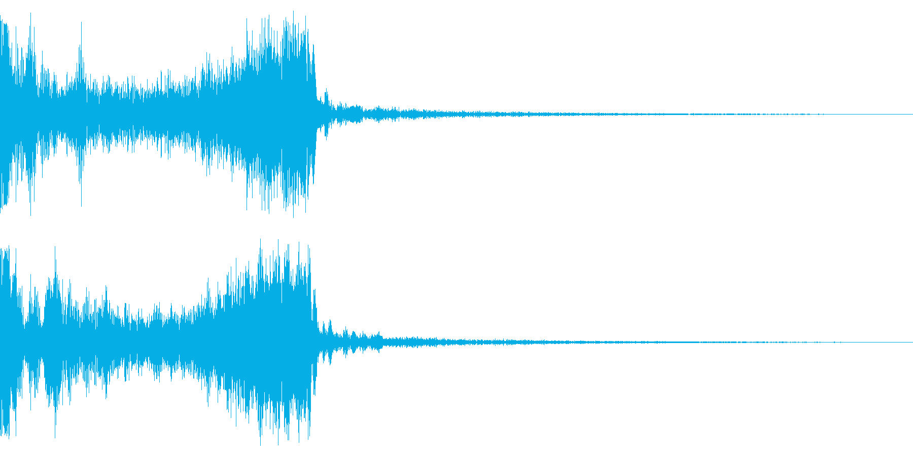 アタック系の音+空間の再生済みの波形