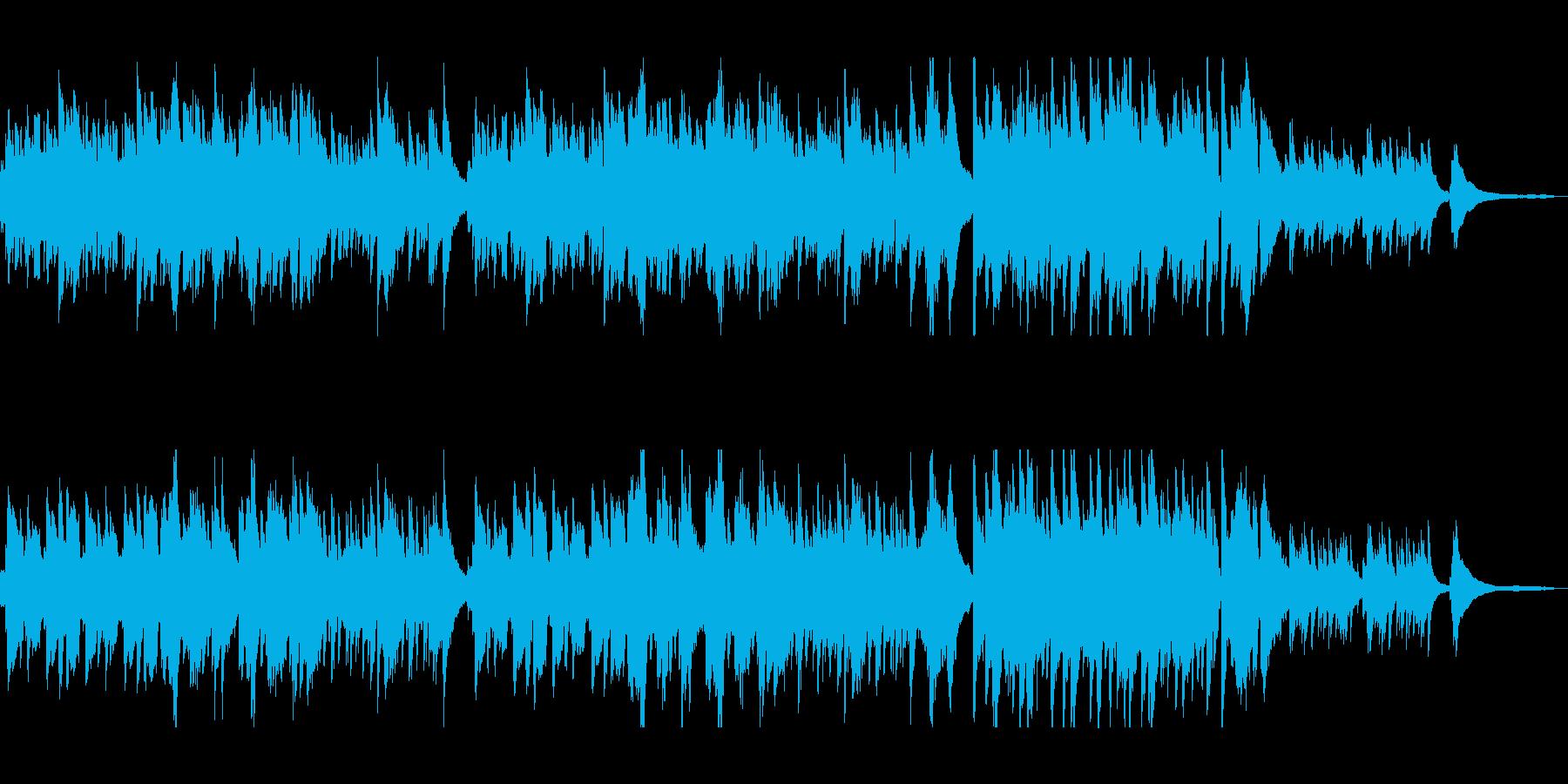 ピアノと金属音がマッチングしたポップスの再生済みの波形