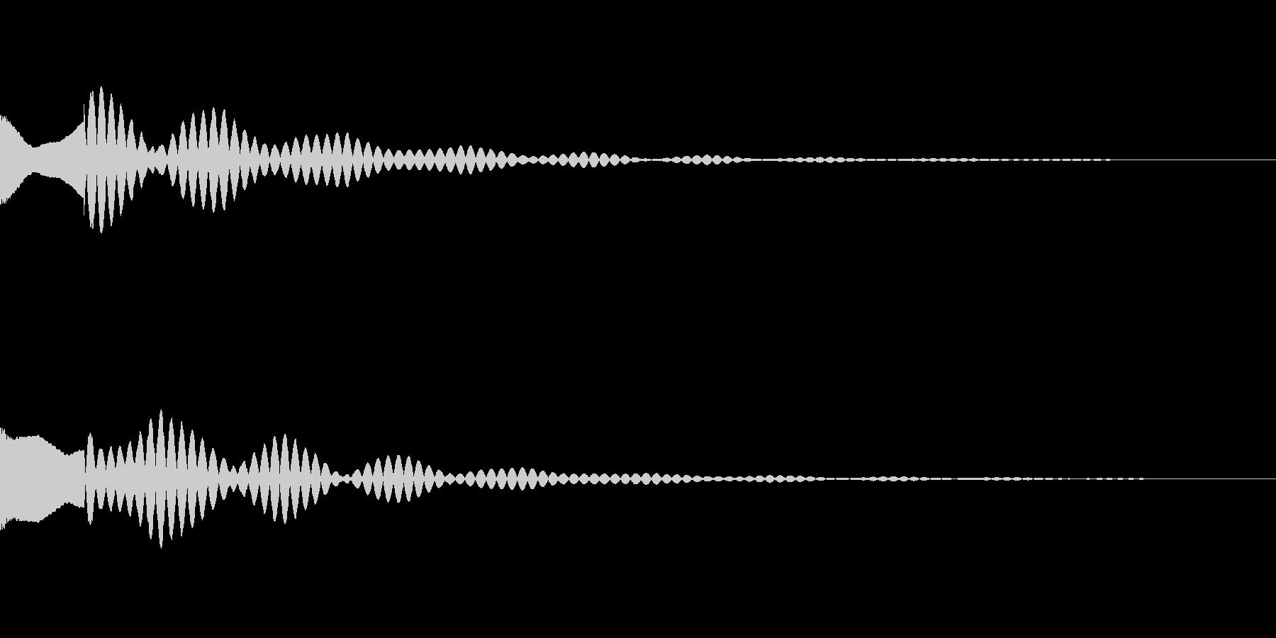サスペンスっぽい怪しい単音のエレピの音の未再生の波形