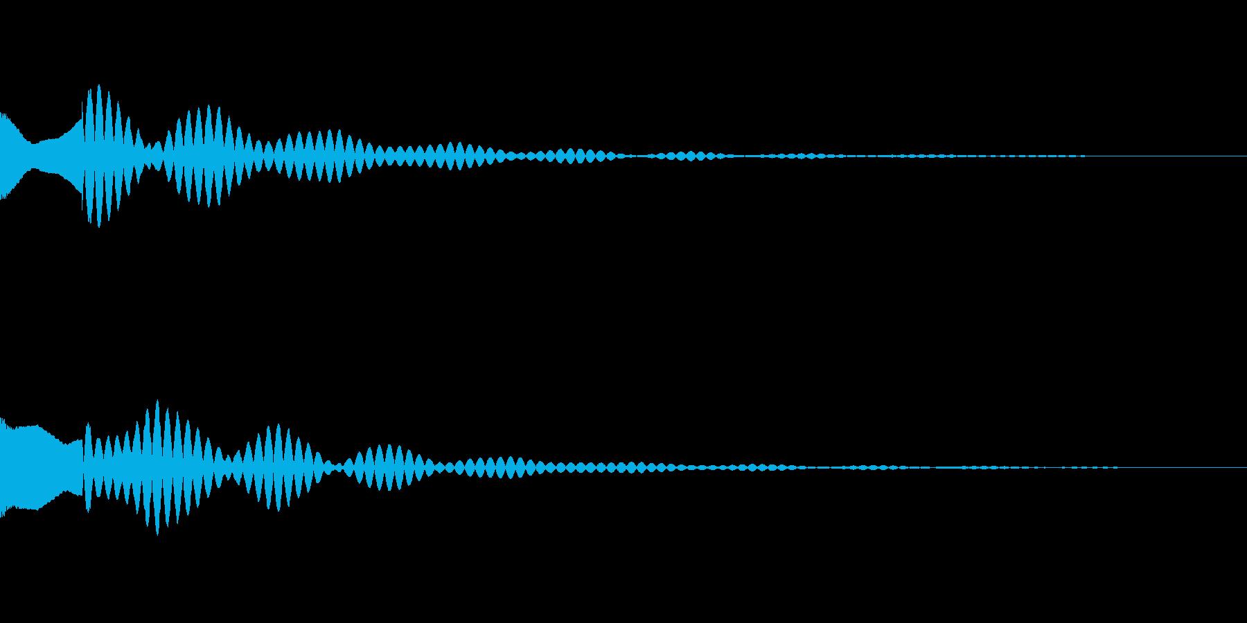 サスペンスっぽい怪しい単音のエレピの音の再生済みの波形