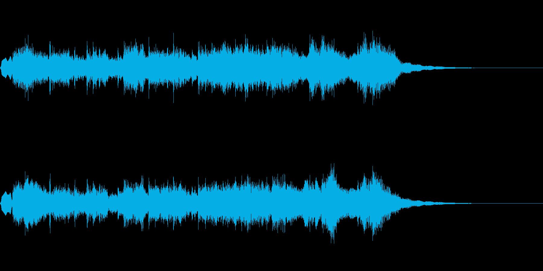 ファンファーレ系な感じの再生済みの波形