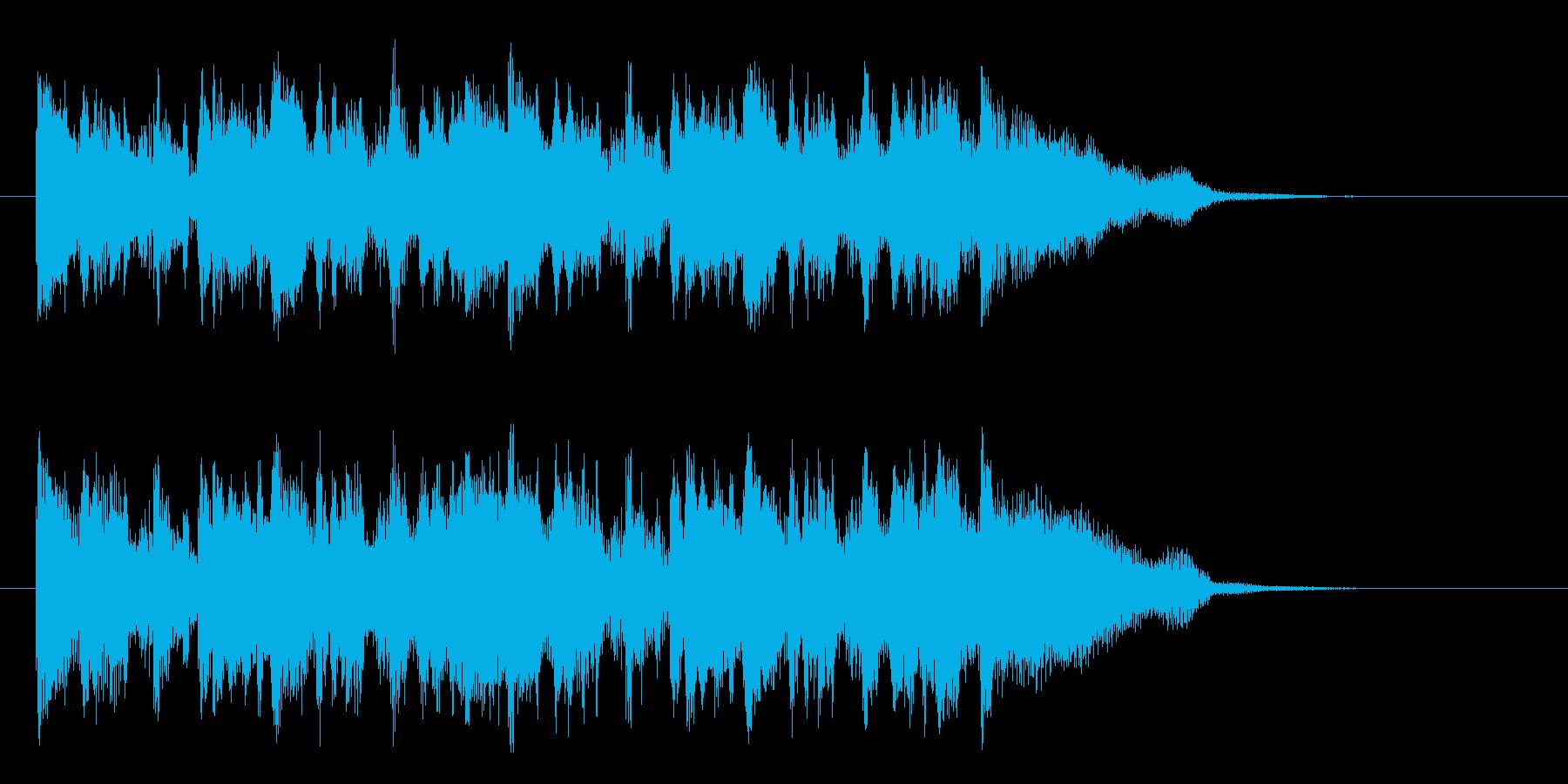 カフェミュージック的なジングル曲の再生済みの波形