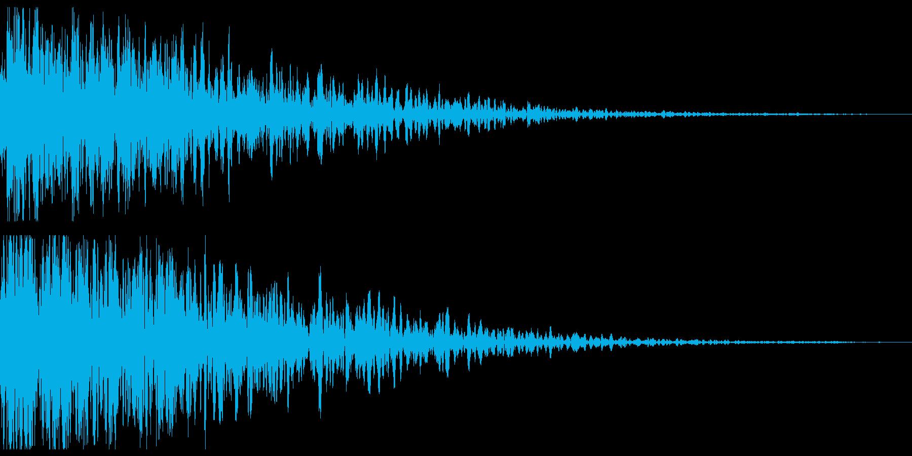 不穏な衝撃音の再生済みの波形