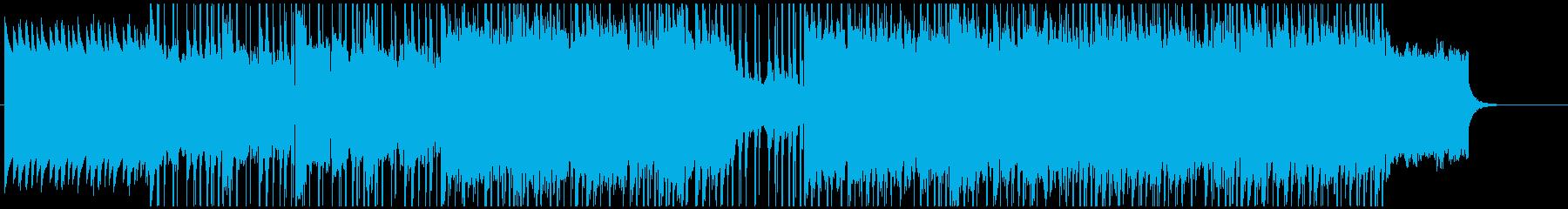 後半に向けて盛り上がりを見せる曲です。の再生済みの波形