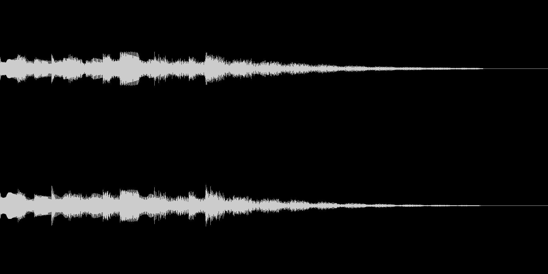 エレキピアノによるドロドロとしたジングルの未再生の波形